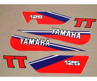 Kit Adesivos Yamaha Tt 125 1980 A 1981 Branca 00220