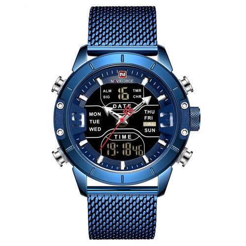 Imagen 1 de 6 de Naviforce 9153 Reloj De Cuarzo Para Hombre Calendario De