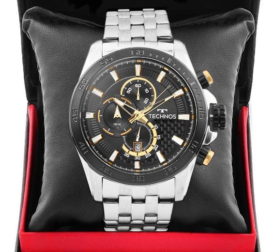 Relógio Masculino Technos Prata Ts Carbon Os1aas/1p