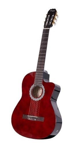 Guitarra Clasica Electrocriolla Parquer Master C Corte Funda