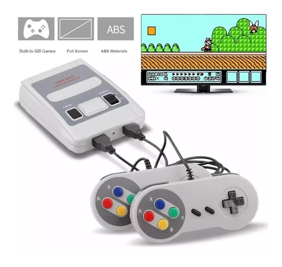 Video Game Super Mini, 620 Jogos 8 Bits 2 Controles.