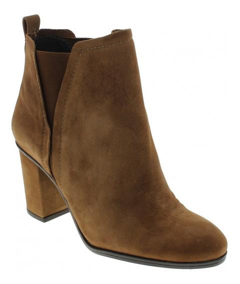 Bota Ankle Boots Schutz S 01746 0084 0002 U Couro Camurça
