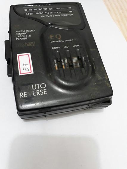 Walkman Radio Am/fm Gpx Só Funciona Radio Revisado