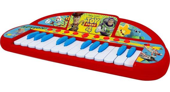 Teclado Musical De Brinquedo Infantil Toy Story 4 Vermelho