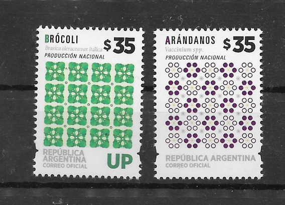 Argentina 2019 Producción Nacional Brocoli Arandanos Mint