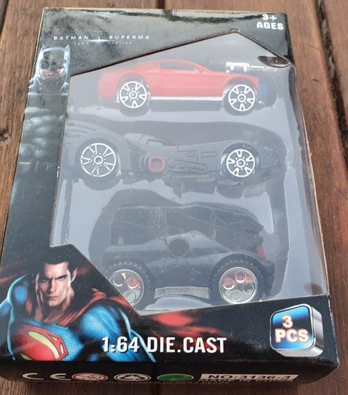 Batman Vs Superman _ Batimovil Vehiculo X 3 De Acccion 1:64