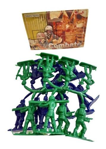 Set De Combate Chico - Soldados Verde Y Azul - Sueñolin