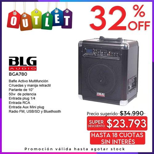 Bafle Activo C/ Ruedas Y Manija Bga 780 BLG 50w Outlet