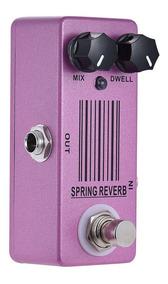 Pedal Reverb Mosky Spring Micro Pedal Reverbe Mola Guitarra