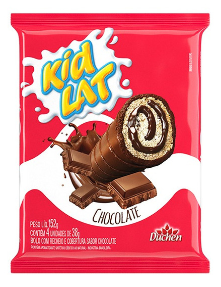 Bolinho Kidlat Caixa Com 20 Pacotes De 152g- Sabor Chocolate