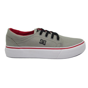 Tenis Dc Shoes Trase Tx Youth Adbs300083 Xsrw Grey Red Whit