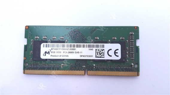 Memoria Micron 8 Gb Ddr4 Pc4 2666v Mta8atf1g64hz-2g6b1 Note