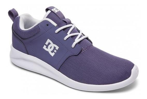 Zapatilla Dc Shoes Midway Lila Logo Blanco Cod1191112175c