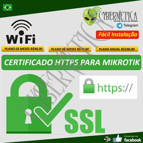 Mikrotik - Certificado Https/ssl 2018