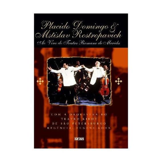 Dvd Plácido Domingos & Mstislav Rostropovich (lacrado)