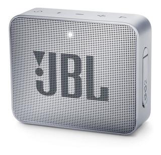 Parlante Jbl Go2 Bluetooth Colores Gris Y Azul