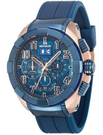 Relógio Masculino Seculus Upper Cronógrafo 13009gpsvru5