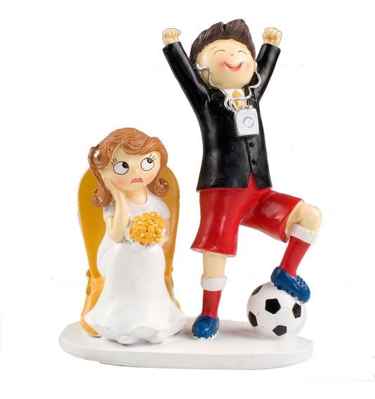 Cake Topper O Figura Para Pastel De Novios Amante Football