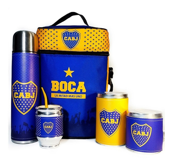 Equipo De Mate Completo Boca Juniors Kit Matero Regalo Madre