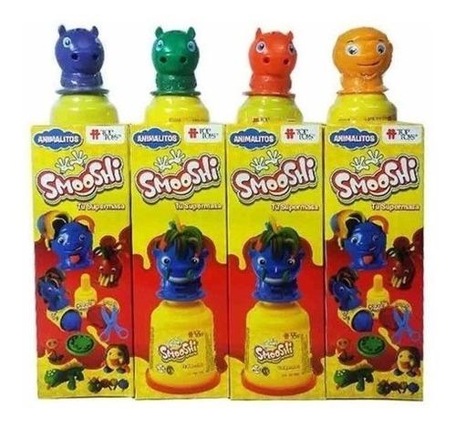 Imagen 1 de 3 de Smooshi Juego De Masa Mix Animalitos X2 Potes Top Toys