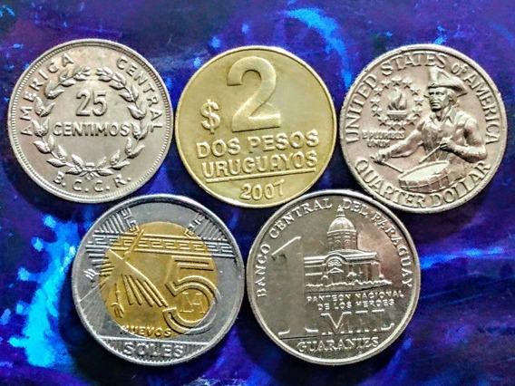 Monedas De América 9 Usa (tamborilero) Y Otros Países