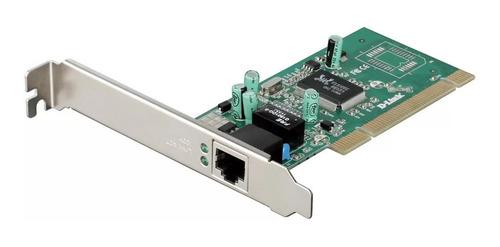 Imagem 1 de 6 de Placa De Rede Pci Gigabit 10/100/1000 D-link Low Profile