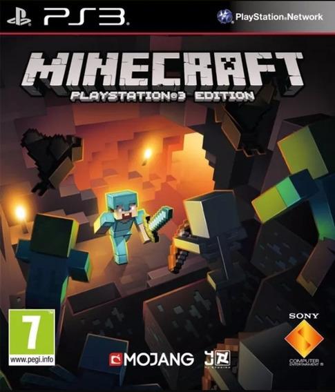 Jogo Minecraft Edition Ps3 Digital Psn Dublado Pt-br Play 3