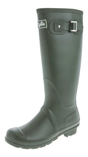 Botas De Lluvia Altas Mujer Wellington Bottplie- Verde Matte