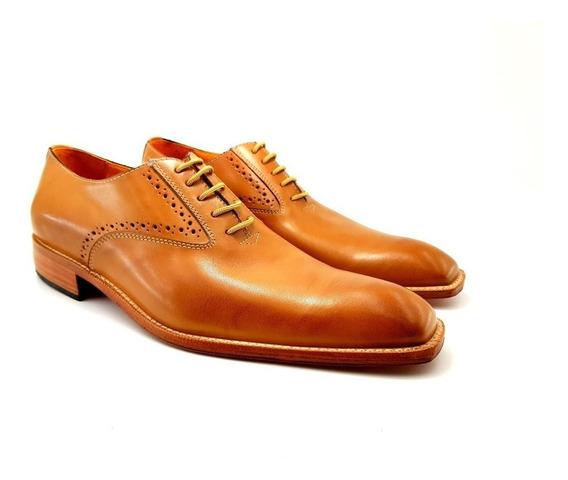 Zapato De Hombre, Color Suela Vestir Leonetti Mod. Florencia