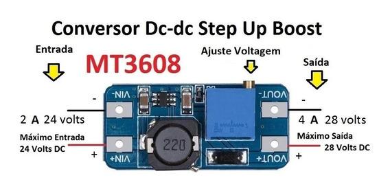 Conversor Dc-dc Step Up Module Mt3608 2a