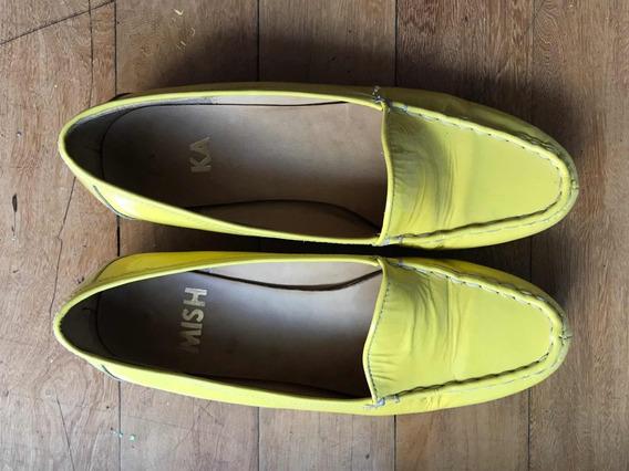 Zapato De Charol De Mishka Amarillo Talle 40