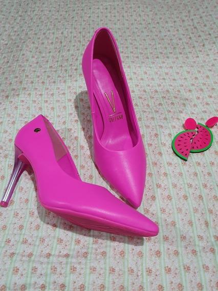 Zapatos Stilletos Vizzano Pink Neón Fucsia Cómodos 38!