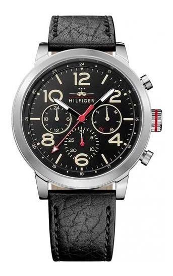 Relógio Tommy Hilfiger Masculino Couro Preto 1791232