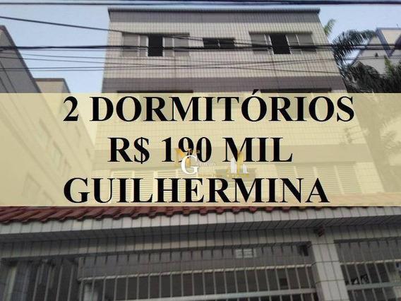 Apartamento 2 Dormitórios 60 M² Por R$ 190.000 - Vila Guilhermina - Praia Grande/sp - Ap2358