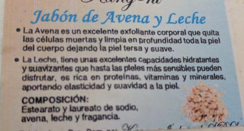 Jabón De Avena Y Leche 100g