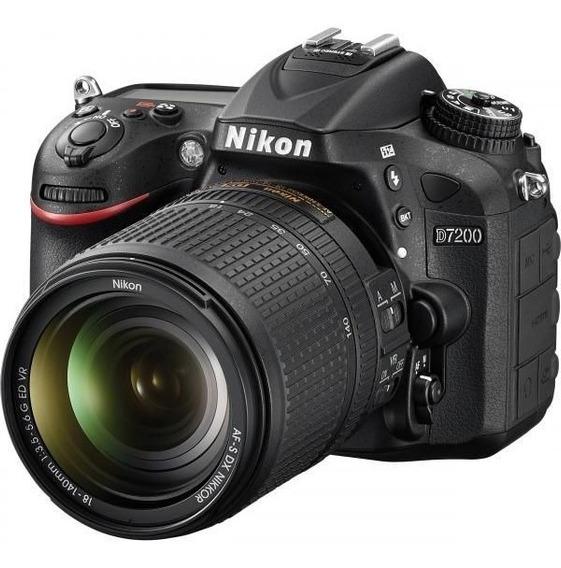 Câmera Nikon D7200 Com Lente 18-140mm Vr