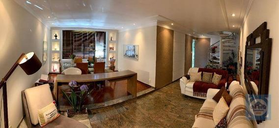 Cobertura Com 3 Dormitórios À Venda, 315 M² Por R$ 1.100.000,00 - Marapé - Santos/sp - Co0120