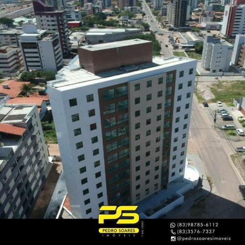 Apartamento Com 2 Dormitórios À Venda, 66 M² Por R$ 310.000,00 - Intermares - Cabedelo/pb - Ap3814