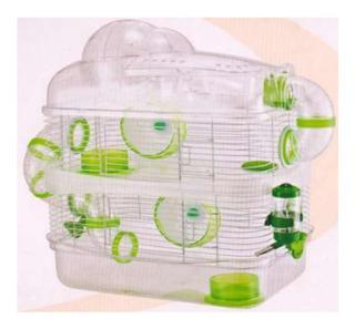 Jaula Completa Para Hamster De 2 Pisos Con Esfera Chimuelocl