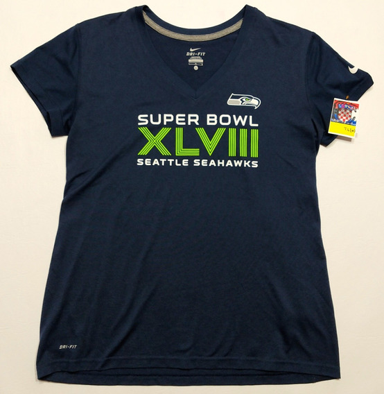 Remera Seattle Seahawks Nfl Talle L Woman Azul
