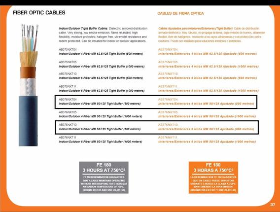 Cable Fibra Óptica Multimodo 4 Ó 6 Hilos Mm 50/125 Int/ext