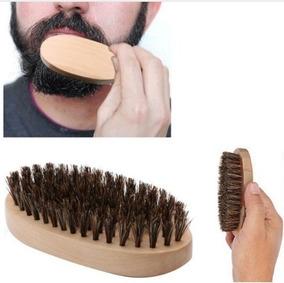 Escova Barba Bigode De Madeira Cerdas Javali Oriental