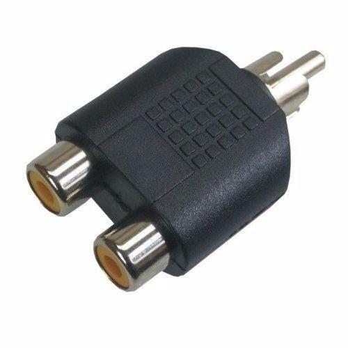 Adaptador Duplicador Rca 2 Fêmea X 1 Plug Macho
