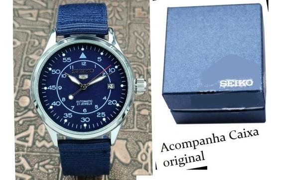Relógio Pulseira De Nylon Automático Seiko 5 4r35b