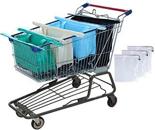 Bolsas De Carrito De Compras Reutilizables Y Organizador De