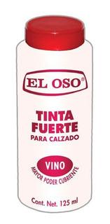Tinta Fuerte Calzado Zapatos Café Negro O Vino El Oso 125ml