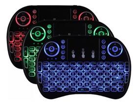 Mini Teclado Wirele Bluetooth Com Luz Pc Tv Ps3 Xbox Tv