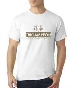 Camiseta Estampada Tigres Tri Campeón De Campeones