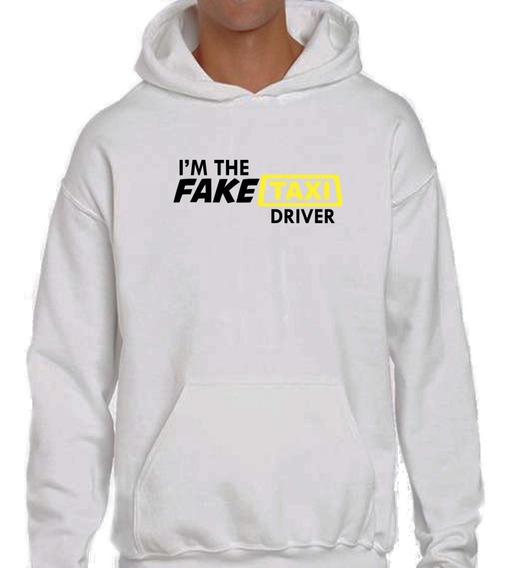 Sudadera Hoodie Con Estampado Fake Taxi Unisex Algodón 100%