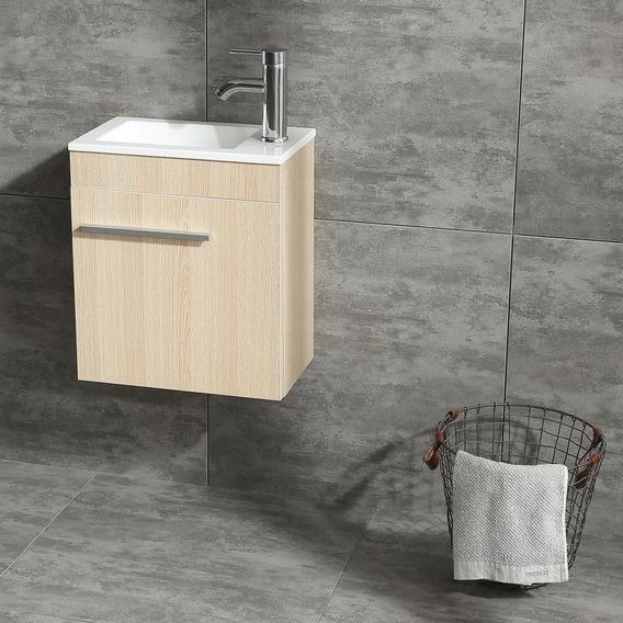 Nuevo Diseño Moderno Color Madera Tocador Mueble De Bañ-5290